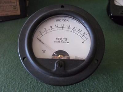 Hickok 3 Volt Dc Panel Meter Type 46 Tube Tester 3 12