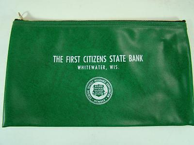 Vintage Deposit Money Bag The First Citizens State Bank Whitewater Wis