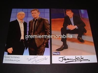 THE JEREMY KYLE SHOW JEREMY KYLE & GRAHAM STANIER SIGNED REPRINT PHOTOGRAPHS
