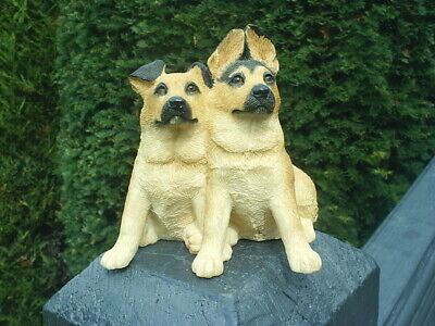 Lovely SHERRATT & SIMPSON DOG Figurine ALSATIAN PUPPY Pair 55063 EXCELLENT Cond for sale  Shipping to Nigeria