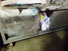 2 sliding glass shelf with wheels, $200 each. Price negotiable, f Turrella Rockdale Area Preview