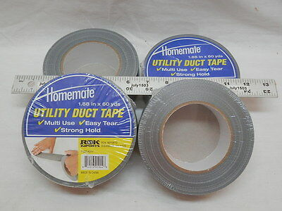 4 Rolls Value Utility Duct Tape 1.88 X 60 Yd Gray Fix Repair 2 Duck