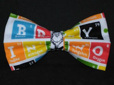 Dr. Seuss Bow tie / Fun Words Spelled with the Periodic Table / Pre-tied Bow Tie