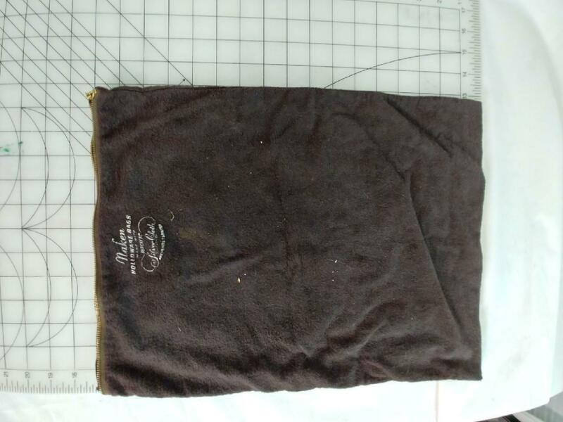 "VINTAGE NAKEN HOLLOWARE PACIFIC SILVER CLOTH ZIPPER 17X12"" ANTI TARNISH BAG"