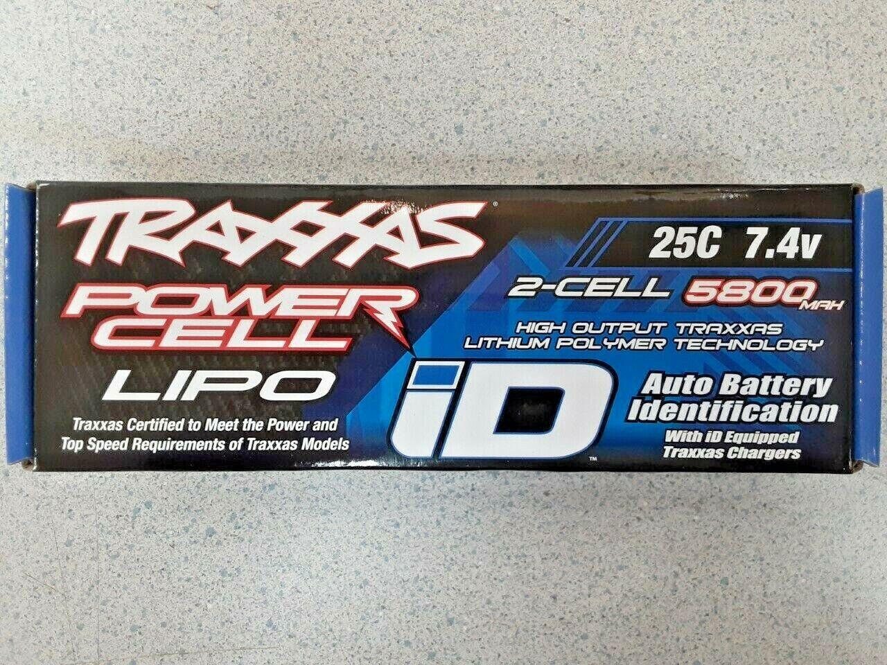 Traxxas 2S 25C LiPo Battery w/iD Traxxas Connector 7.4V/5800
