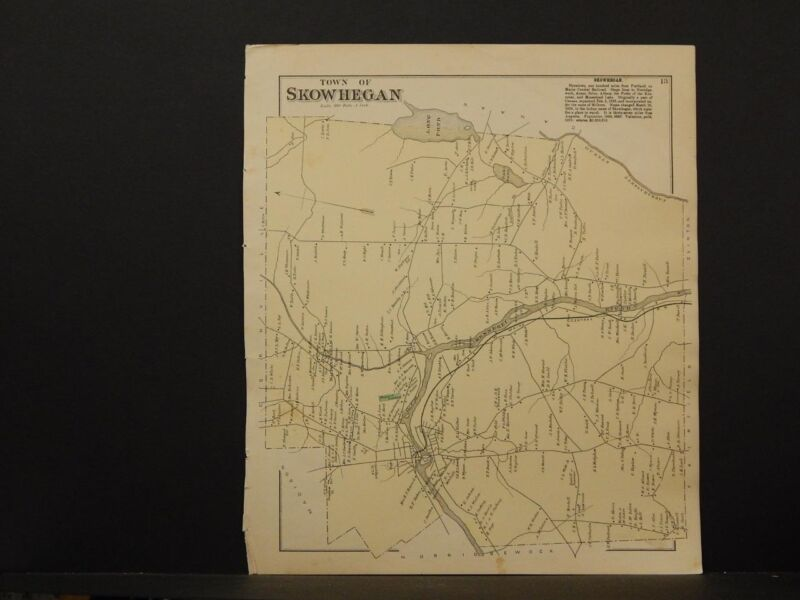 Maine/Somerset County Map, 1883, Town of Skowhegan, O6#22