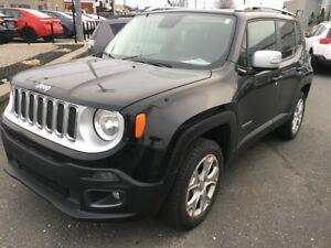 2017 Jeep Renegade Limited 4x4 gps cuir ac toit ouvrant mags
