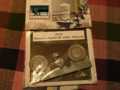 AIRES MESSERSCHMITT BF 109 G WHEELS KIT RESINE MODEL 1/48 REF 2029