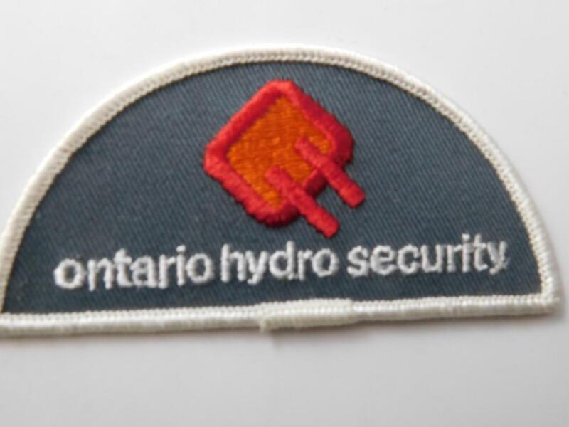 ONTARIO HYDRO  SECURITY OFFICER VINTAGE PATCH BADGE UNIFORM CANADA POLICE