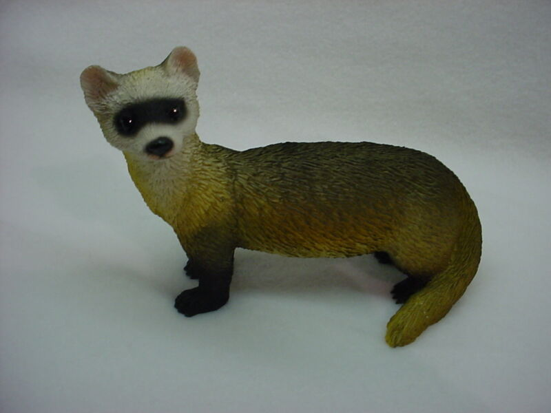 FERRET pet HAND PAINTED FIGURINE Resin Statue COLLECTIBLE Wildlife ANIMAL New