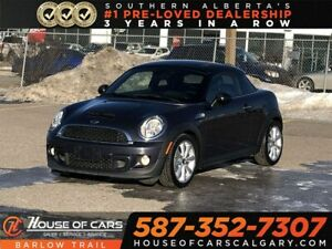 2014 Mini Coupe Cooper S / Heated leather seat / Bluetooth
