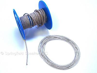 """5 ft 3500w Braided Speaker Tinsel Lead Wire .081"""" Dia."""