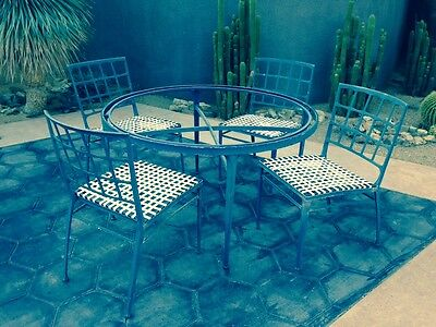 "Vintage Brown Jordan ""Atrium"" Patio Indoor/Outdoor Mid Century Modern Dining Set"