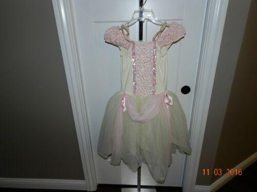 TUTU COSTUME HALLOWEEN TULLE DESIGN FOR DANCE CHILD LC Large L  CREAM + PINK