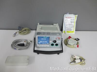 Zoll E Series Biphasic 12 Lead Ecg Spo2 Co2 Analyze Pacing Aed Lockout