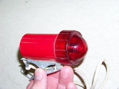 NOS Vintage Life Saver Clip On Red Boat Light port Lennan Lights No. 2