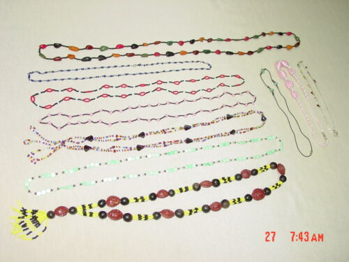 Wholesale Lot of 10 Necklaces Estate Asstd Gently Used multi color beads glass