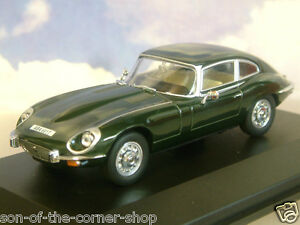 OXFORD 1/43 1971-75 JAGUAR V12 E-TYPE SERIES 3 COUPE BRIT RACING GREEN JAGV12004