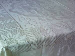 Lace Tablecloth Vintage Style Sepia Easy Care Cotton 137 x 182cm Tweed Heads South Tweed Heads Area Preview