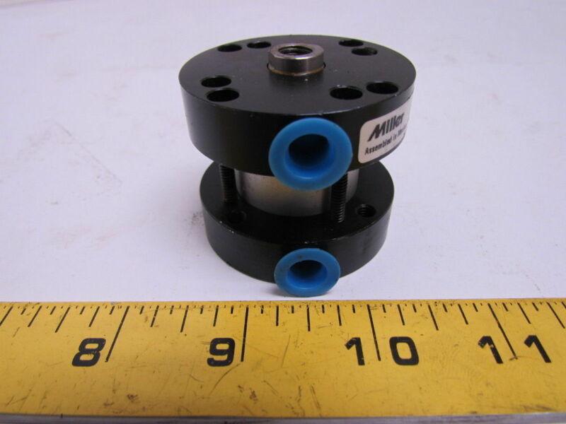 "Miller 030-50A-N4N-01.13-.750Pneumatic Air Cylinder 1.13""Bore .75""Stroke Pancake"