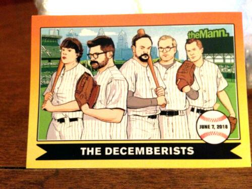 THE DECEMBERISTS - 2018 concert baseball card