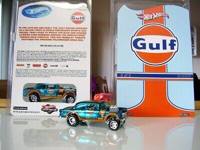 "Hot wheels super ** CUSTOM ** 55 CHEVY GASSER  "" GULF ""  treasure hunt  not RLC"