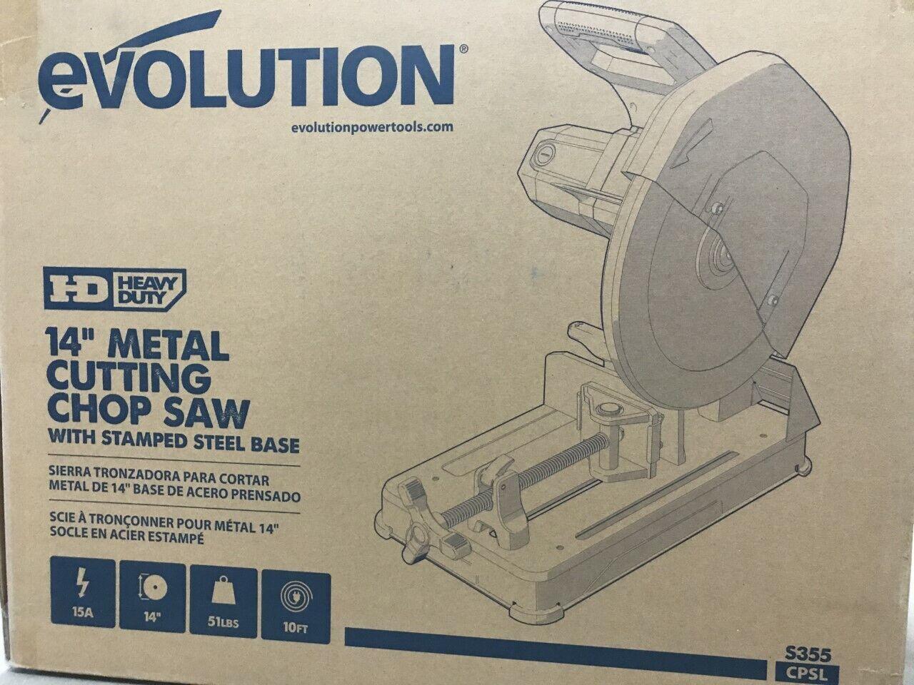 """Evolution S355 CPSL Raptor Steel Cut Off Saw 120V - 14"""" EVO"""