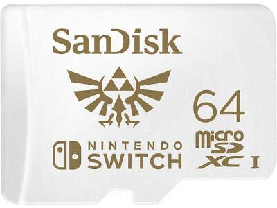SanDisk 64GB microSDXC UHS-I for Nintendo Switch, Speed Up to 100MB/s