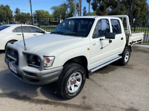 2001 Toyota Hilux KZN165R (4x4) White 5 Speed Manual 4x4 Dual Cab Pick-up Woodville Park Charles Sturt Area Preview