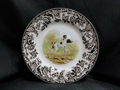 Spode Woodland Flat Coat Pointer Hunting Dog, England: Salad Plate (s), 7 3/4""