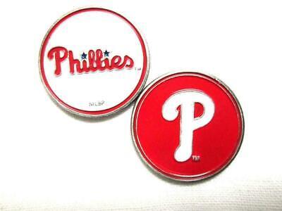 Philadelphia Phillies Golf Ball Marker Enamel Metal Team Logo 2 Sided Hat MLB -