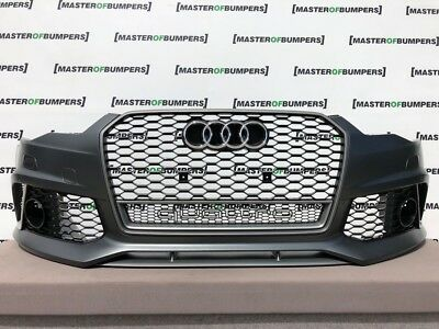 AUDI RS6 2015-2018 FRONT BUMPER WITH GRILLES COMPLETE GENUINE [A731]