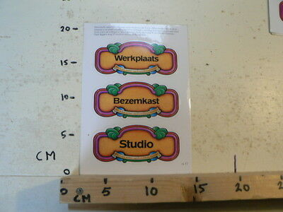 STICKER,DECAL DEURSTICKERS DOOR,WERKPLAATS,BEZEMKAST, STUDIO