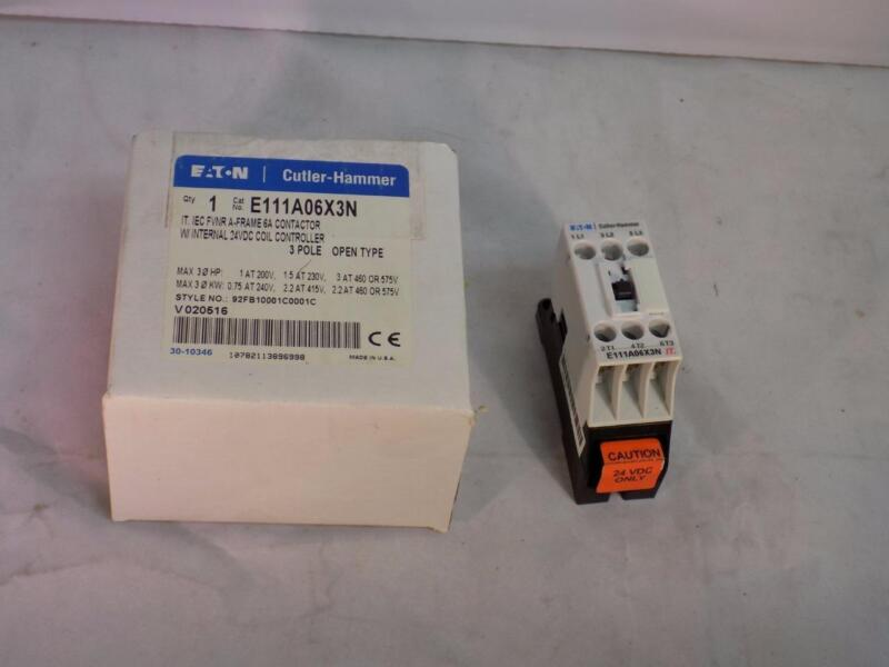 Eaton Cutler Hammer E111A12X3N Motor Control Contactor 12A 600VAC 24VDC Coil