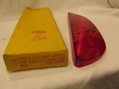 Vintage Auto Part - 1960 Ford Pass. (exc. Falcon) Stop & Tail Lamp Lens -MIB NOS