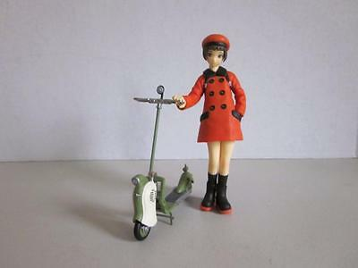 Japanese Anime Scooter Girl Orange Outfit 6