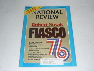NATIONAL REVIEW MAGAZINE / DECEMBER 24 1976 ROBERT NOVAK FIASCO / QUEBEC / CHILE ()