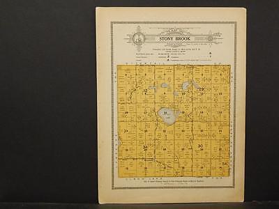 Minnesota, Grant County Map, 1914 Township of Stony Brook Y1#14