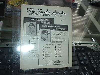 Issue Mickey Mantle - March 1969 The Trader Speaks Baseball Card Pub Mickey Mantle early issue #5