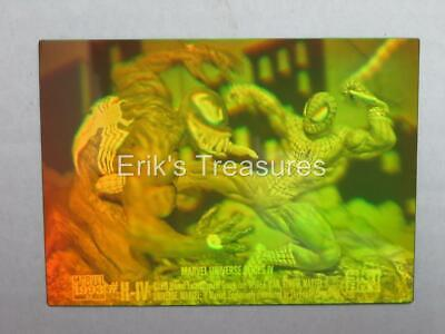 1993 Marvel Universe 4 IV Spider-Man vs Venom H-IV Hologram Card MIX TINT NM-M!!
