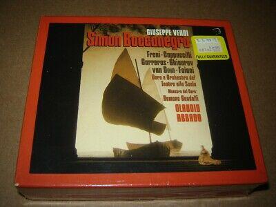 Verdi - Simon Boccanegra 2CD SEALED Abbado, Carreras DG 415 692-2 West Germany