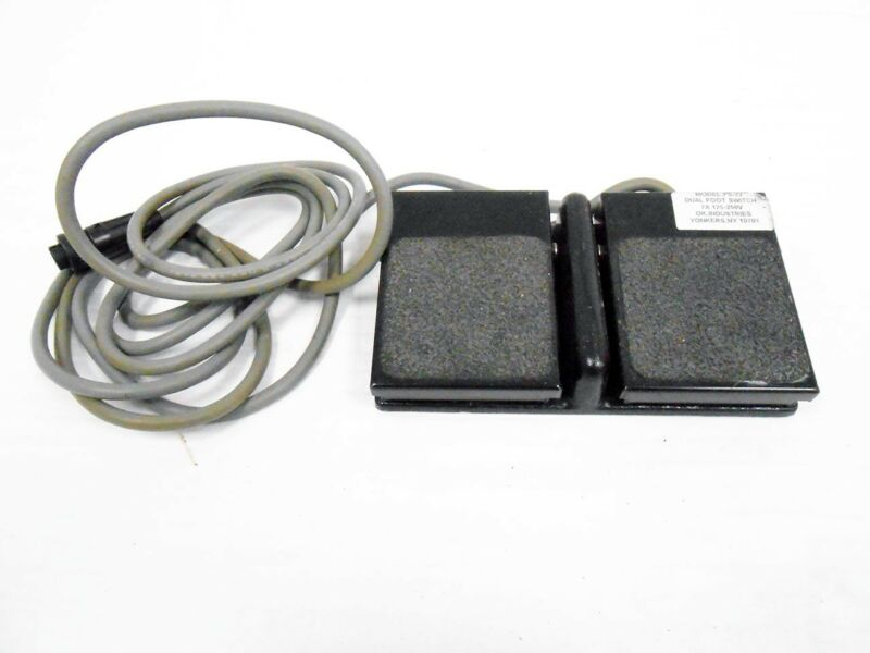 OK O.K. INDUSTRIES FS-22 DUAL FOOT SWITCH FOOTSWITCH FOOT PEDAL