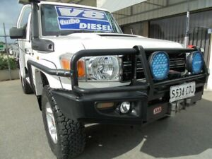 2013 Toyota Landcruiser VDJ79R MY13 GXL White 5 Speed Manual Cab Chassis Edwardstown Marion Area Preview