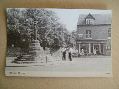 B&W Postcard - REPTON CROSS. Unused.  Standard size.