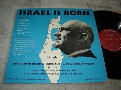 Israel Is Born LP Caedmon actual voices of Gurion, Abba Eban, Weizmann, Jamali