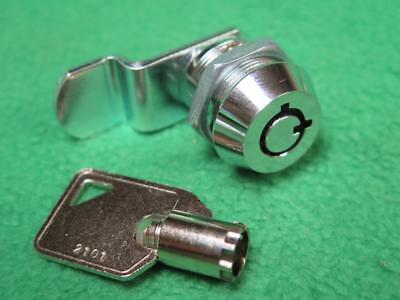 12 34 Chrome Tubular Keyed Key Cam Lock Cylinder Drawer File Cabinet Vending