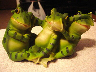 FROG SEE NO EVIL, HEAR NO EVIL, SPEAK NO EVIL STATUE No Evil Frogs