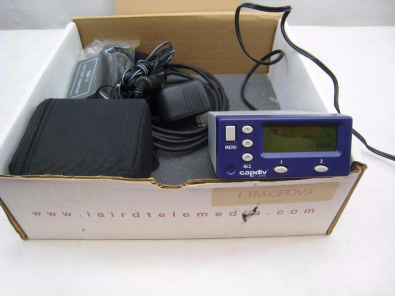 NOS New LAIRD CAPDIV LTM-CPDV 40GB Portable Direct DV Recorder Firewire Complete