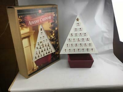 Member's Mark Christmas Advent Calendar Wooden Tree With 25 Doors & Ornaments