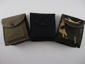 NEW-2-Pocket-Military-Style-Storage-Utility-Pouch-Ammo-Bag-Black-or-OD